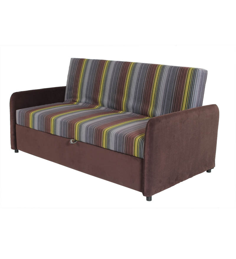 Durian striped sofa cum bed by durian online sofa sets for Sofa xum bed