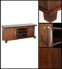 Ephrata Entertainment Unit in Provincial Teak Finish by Woodsworth