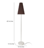 Dumah Black Iron Modern Shade Floor Lamp by Casacraft
