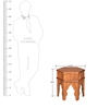 Dynasty Octongal Side Table with Walnut Finish by @home
