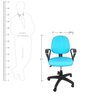 E - Pro III Low Back Office Chair in Blue Color by BlueBell Ergonomics