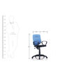 E-Buzz Mid Back office Chair in Blue and Black Color by BlueBell Ergonomics