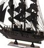 E-Studio Black Metal Impressive Pearl Ship Showpiece