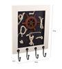 E-Studio Multicolour Teak Wood Marine with Ship Wheel Key Hanger