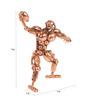 E-Studio Multicolour Copper Striking Rugby Sculpture Showpiece