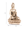 E-Studio Silver Matt Buddha Showpiece