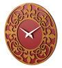 Earth Multicolour Wood 12 x 0.5 x 12 Inch Design Cutout Wall Clock