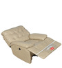 Ebony Single Seater Electric Recliner in Ivory Colour by @home