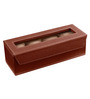 Ecoleatherette Leatherette Dark Brown 4-case Watch Box