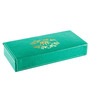 Ecoleatherette Leatherette Aqua Green Travel Handcrafted Jewellery Box