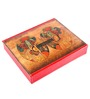 Ecoleatherette Leatherette Multicolour 5 Compartments Regular Handcrafted Jewellery Box