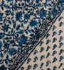 eCraftIndia Designer Blue & Beige Cotton Floral Double Bed Jaipuri Quilt