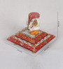 eCraftindia Multicolour Makrana Marble Vakratunda Lord Ganesha on Step Chowki