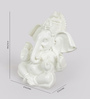 eCraftindia White Synthetic Fibre Chaturbhuj Lord Ganesha with Crown