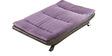 Edo Dual Tone Sofa Cum bed in Purple Colour by Furny