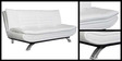 Edo Leather Sofa cum Bed in White Colour by Furny