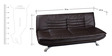 Edo Leatherette Sofa Cum Bed in Brown Colour by Furny