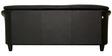 Edo Three Seater Sofa in Black Colour by Furnitech