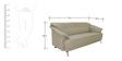 Edo Three Seater Sofa in Buff Colour by Furnitech