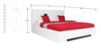 Edwina High Gloss King Bed with Hydraulic Storage in White Colour by HomeTown