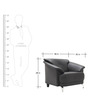 Edo One Seater Sofa in Black Colour by Furnitech