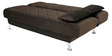 Effa Supersoft Sofa Bed in Brown Colour by Furny