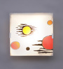 Eglo White & Red Glass Wall Mounted Light