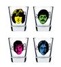 Ek Do Dhai The Beatles Shot Glasses - Set of 4