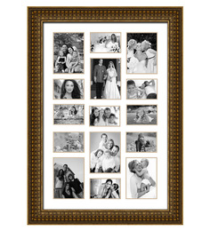 Elegant Arts And Frames Gold Synthetic 30 X 42 Inch Collage Photo Frame
