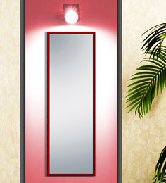 Elegant Arts And Frames Red Wood And Saint Gobain Glass Mirror - 1477668