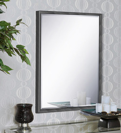 Elegant Arts And Frames Black Wood And Saint Gobain Glass Mirror - 1477671
