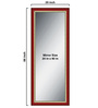 Elegant Arts & Frames Multicolour Wooden Decorative Synthetic Full Length Dressing  Mirror