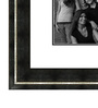 Elegant Arts and Frames Black Wooden 28 x 1 x 40 Inch 15 Pocket Family Collage Photo Frame