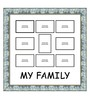Elegant Arts and Frames Blue Wooden 26 x 1 x 27 Inch My Family Collage Photo Frame