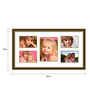 Costa Del Sol Collage Photo Frame in Brown by CasaCraft