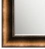 Elegant Arts and Frames Brown Wooden Metallic Decorative Wall Mirror