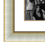 Elegant Arts and Frames Cream Wooden 28 x 1 x 40 Inch 15 Pocket Family Collage Photo Frame
