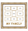 Elegant Arts and Frames Gold Wooden 26 x 1 x 27 Inch My Family Collage Photo Frame