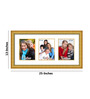 Costa Collage Photo Frame in Gold Yellow by CasaCraft
