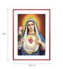 Elegant Arts and Frames Canvas 16 x 22 Inch Immaculate Heart of Mary Framed Art Print