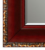 Elegant Arts and Frames Maroon Wooden Decorative Wall Mirror