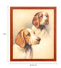 Elegant Arts and Frames Canvas & Wood 22 x 1 x 26 Inch The Pets Framed Original Oil painting