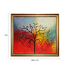 Elegant Arts and Frames Canvas & Wood 23 x 1 x 24 Inch Abstract Tree Framed Original Oil painting