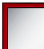 Mariano Minimalist Mirrors in Red by CasaCraft