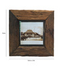 Eleganze Decor Brown Teak Wood 16 x 2 x 16 Inch Photo Frame