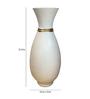 Eleganze Decor White Ceramic Vase