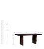 Elkhorn Six Seater Dining Tables in Provincial Teak Finish by Woodsworth