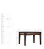 Elliston Four Seater Dining Table in Warm Chestnut Finish by Amberville