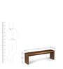 Elmwood Dining Bench in Brown Colour by HomeHQ