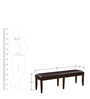 Elongated Bench with Tapered Legs in Brown Colour by Afydecor